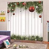 Cortinas Opacas Térmicas Aislantes Navidad Tela De