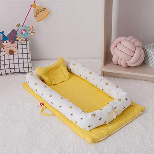 Buy Discount HUATINGRHYE Baby Cot, (905015cm) Double-Layer Yarn Cotton Bed, Baby Bed, Infant Newborn...