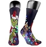 NA Calcetines deportivos unisex, calcetines 3D The Grinch Merry Christmas Printing Seafarer Socks Deluxe Personality Short Sock 40CM