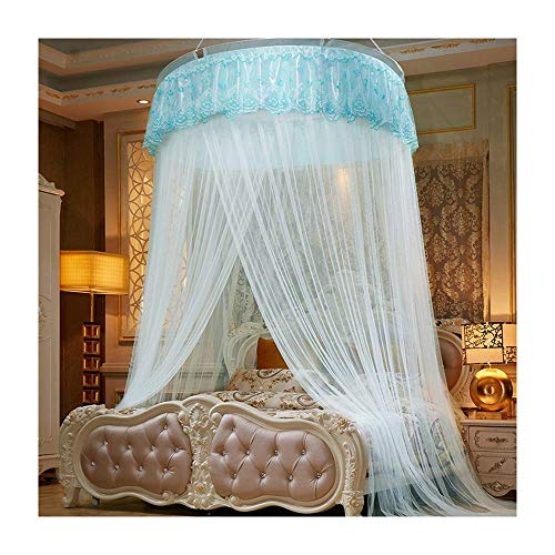 Kyman Large Mosquito Net Bed, Bed Conical Netting with Polyester Fiber, 1 Entrance, No Chemicals Added, Anti-Mosquito, Suitable for Beds within 2.2M,Pink (Color : Blue)