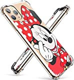 TPU Minnie Mouse Cute Cartoon Clear Case for iPhone 11 Pro Max 6.5', Fun Kawaii Animal Protective Shockproof Cover, Ultra, Thin Unique Funny Character Cases for Kids Teens Girls(iPhone 11 Pro Max)