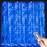 Brightown 300 LED Window Curtain String Light, Hanging Fairy String Lights for Bedroom...
