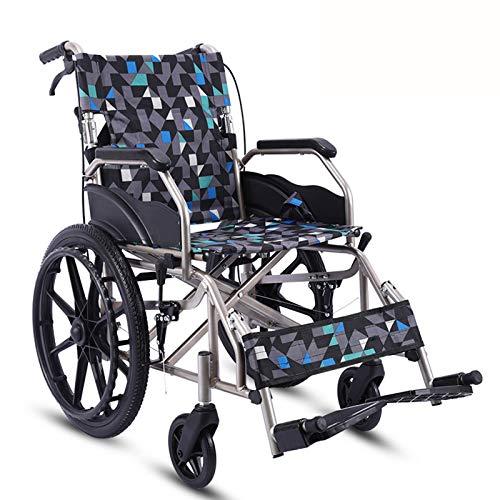 Cajolg Aluminium Rollstuhl Tragbarer Klapprollstuhl Leichtes MobilitäTsgeräT FüR äLtere Behinderte Und Behinderte Benutzer