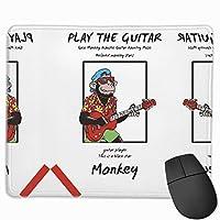 【2021新款】マウスパッドsock Monkey Acoustic Guitar Country Music マウスパッドゲーミングマウスパッド大型ゲーミング滑り止めハイエンド流行のファッション防水耐久性滑り止めラバーボトム 25*30cm