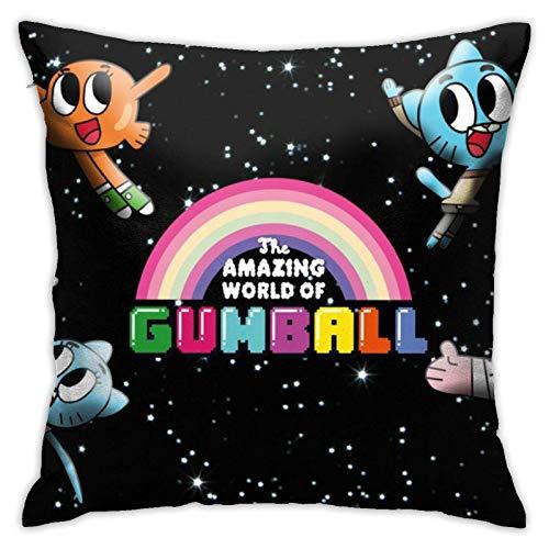 Federa per cuscino per divano, camera da letto, 18 x 18 cm, con logo The Amazing World of Gumball
