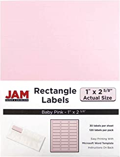JAM PAPER Mailing Address Labels - Standard Mailing - 1 x 2 5/8 - Baby Pink - 120 Shipping Labels/Pack
