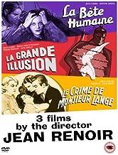 Jean Renoir: La Bete Humaine, La Grande Illusion, Le Crime de Monsieur Lange