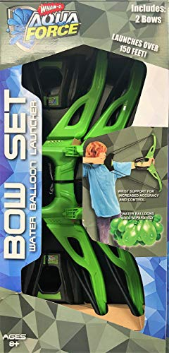 Whamo Aqua Force Bow Set - Water Balloon Launcher 2 Bows