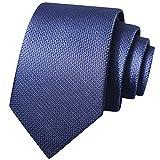 Corbatas De Hombre Corbata De Fibra De Poliéster para Uso De Oficina, Corbata Azul Marino para Boda, para Regalos De Empresa (Color : Navy, Size : 145 * 7cm)