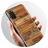 Pattern Wood Textures Case for Samsung Galaxy A51 A71 M31 A41 A31 A11 A01 M51 M21 M11 M40 Black Soft...