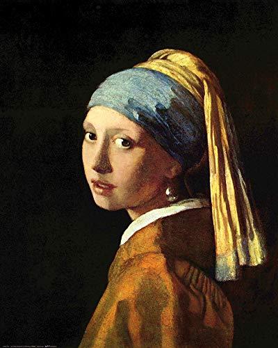1art1 Johannes Vermeer - Das Mädchen Mit Dem Perlenohrring, 1665 Poster Kunstdruck 50 x 40 cm