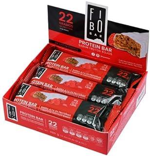 Barras de Proteina Fibo, sabor Frutos Rojos con 24 piezas de 65g cada barra con 22g de proteína