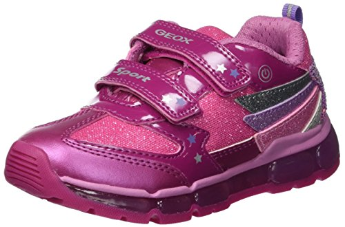 Geox Mädchen J Android Girl B Sneaker, Pink (Fuchsia/Dk Pink C8n8f), 33 EU