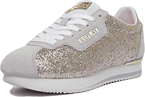 Replay Suerte Damen-Sportschuhe, Synthetik, silberfarben, Gold - gold - Größe: 39