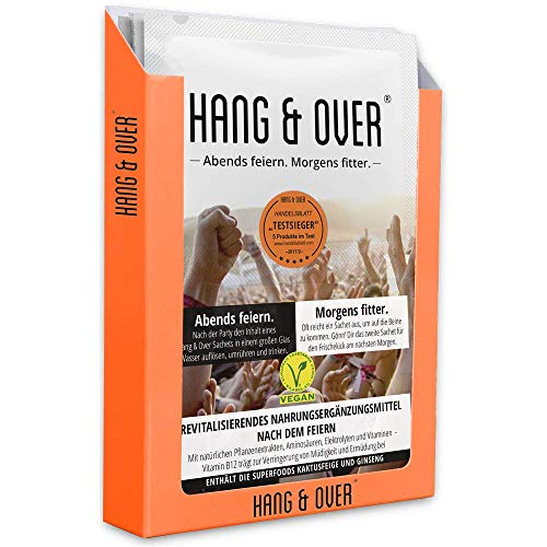 Hang & Over ® - 10 Anwendungen - 18 hochdosierte Wirkstoffe - Handelsblatt Testsieger mit bester Wirkung - Mit Vitamin B12 Gegen Ermüdung …