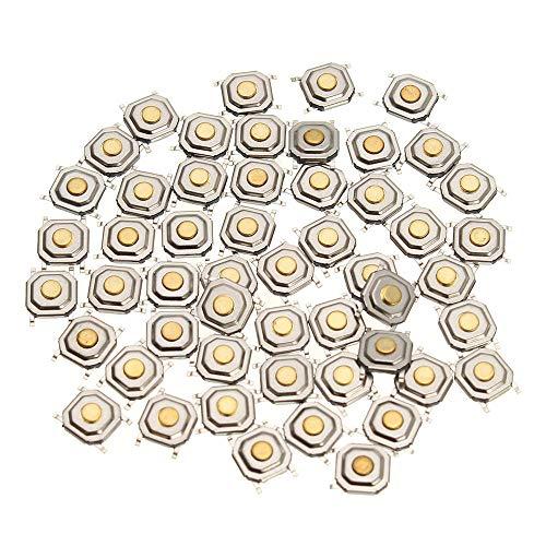 WZhen 150 piezas Dc12V 4 pines táctil táctil botón interruptor momentáneo Smd interruptor 5x5x1.5mm