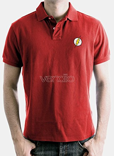 Polo Homme Flash - Logo - Legend Icon - XL, Rouge
