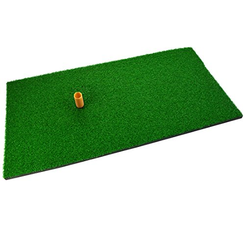 SUMERSHA Golf Mat 12'x24' Residential Practice Hitting Mat Rubber Tee Holder Realistic Grass Putting...