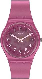 Swatch Gent Standard Quartz Silicone Strap, Pink, 16 Casual Watch (Model: GP170)