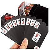 DFJU Conjunto de jogos Mahjong, cartão de Jogo Mahjong Preto Scrub criativo à Prova d'água Papel Conveniente Casa Viagem Lazer Entretenimento Brinquedo 5,9 x 8,9 cm