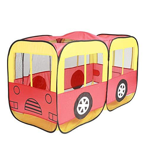 GFEI Juguetes para niños Tienda Play House Grande - Tienda Bus Play House Castle - Tienda Dollhouse Tienda Playhouse al Aire Libre e Interior - para niños de 1-8 años de Edad