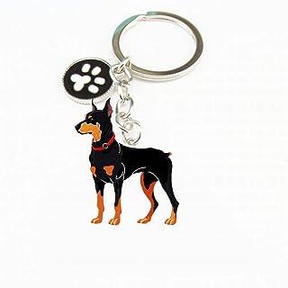 Alivier - Llavero de Metal con Etiqueta de identificación para Perro, Llavero de Coche,