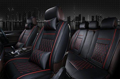 SHISHANG Auto Kissen 3D Leder Alle Sitz Kissen High-End-Auto Sitzbezug Leder Kissen Vier Jahreszeiten Universal Deluxe Edition 4-Farben Auswahl, D
