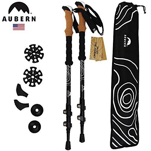 Aubern USA トレッキングポール 超軽量カーボン製 2本セット ウォーキングスティック