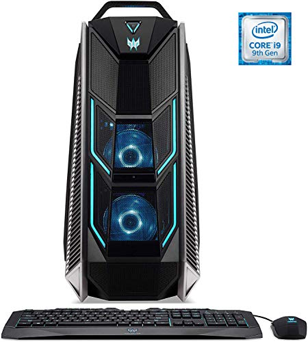 Predator Orion 9000 (PO9-900) Gaming Desktop PC (Intel Core i9-9900X, 32 GB RAM, 512 GB PCIe SSD + 2.000 GB HDD, 2x NVIDIA GeForce RTX 2080 Ti (11 GB GDDR6 VRAM), Win 10 Home) schwarz