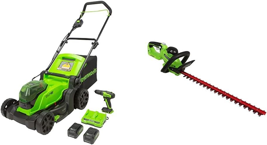 Greenworks Fresno Mall 48V 2 x Wholesale 24V Mower Cordless Brushless Lawn 17-