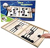 ZesNice Funny Fast Sling Puck Game Paced SlingPuck Winner Board Family Games Toys