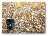 Damasco Pintura decorativa efecto metal floculado plata y oro nacarado Nikkolor Made Italy...