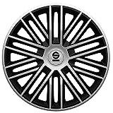 SPARCO SPC1685SVBK Satz Radzierblenden Bergamo 16-Zoll Silber/Schwarz