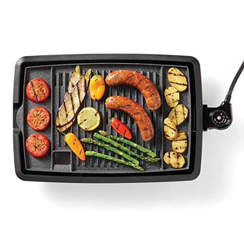 Starfrit The Rock Electric Indoor Smokeless BBQ Grill, Black