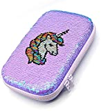 Hello Kids Designer Unicorn Sequin Sequence Scale & Color Changing Pencil Box Cute