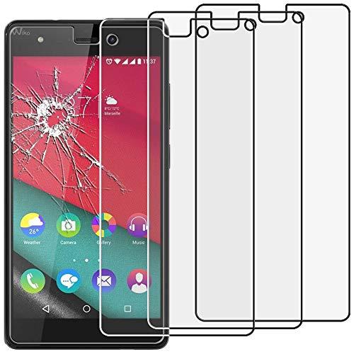 ebestStar - kompatibel mit Wiko Pulp 4G Panzerglas x3 Schutzfolie Glas, Schutzglas Bildschirmschutz, Bildschirmschutzfolie 9H gehärtes Glas [Phone: 143.9 x 72 x 8.8mm, 5.0'']