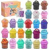 Sunool 24 Packs Mini Butter Slime, with Various UniMermaid Ocean Theme Trinkets,...