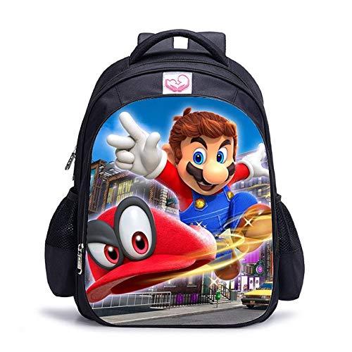 Mochila AAGG de 16 pulgadas, personaliza tu logotipo con la imagen de los niños, mochila ortopédica para niños y niñas, Super Mario Bros 9