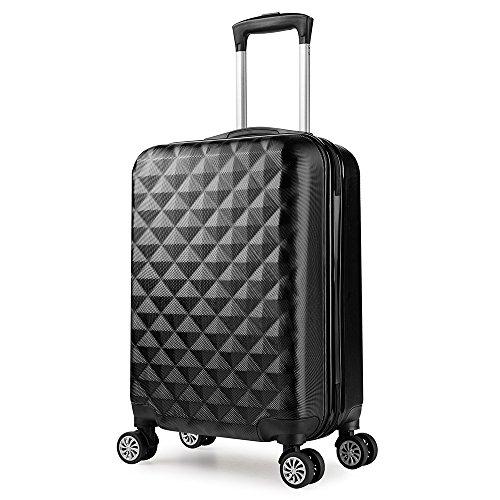 PARTYPRINCE Maleta cabina 56 cm rígida policarbonato abs diamante equipaje rigida con...