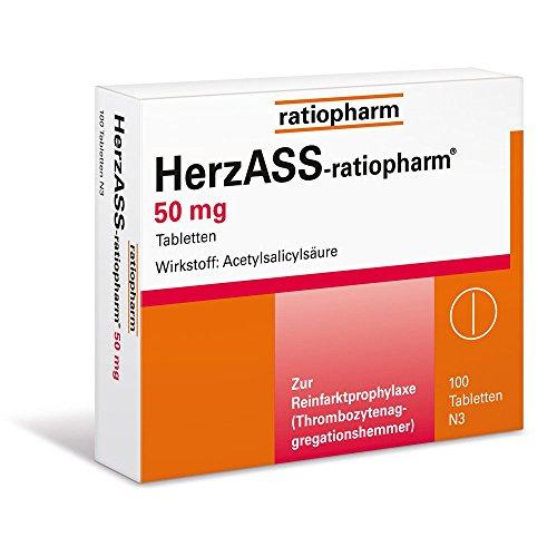 HerzASS-ratiopharm 50 mg Tabletten, 100 St