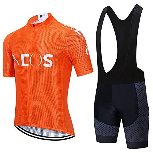 Traje Equipacion Ciclismo Hombre Verano,Bicicleta Team Maillot Corta+Culotes 9D Gel Equipos Transpirables de Secado Rápido MTB Deporte al Aire Libre (TYP 5,XL)
