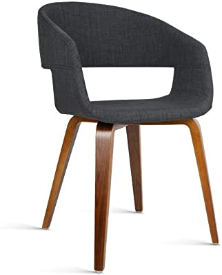 Artiss Set of 2 Timber Wood and Fabric Dining Chairs - Charcoal