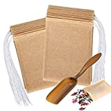 Disposable Paper Tea Filter Bags with Free Tea Spoon, Safe & Natural Material, Disposable Tea Infuser for Loose Leaf Tea, Coffee, Spice, Herbs (400 PCS)