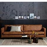 [page_title]-Maison ESTO 3 Sitzer Sofa Rodeo Classic Echtleder Leder Lounge Couch Ledersofa Cognac