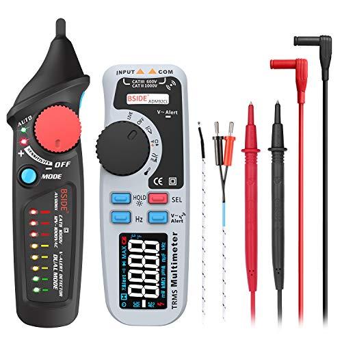 BSIDE Elektrisches Test-Set, Farb-LCD-Multimeter, Dual Modus, berührungsloser Spannungsprüfer für Zuhause