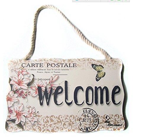 Bienvenido a casa de regalo de Home y Love para colgar señal para la pared puerta Sign Shop Sign Placa