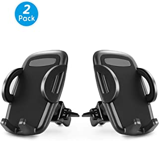 Car Phone Mount, Loncaster 2-Pack Universal Air Vent Phone Holder for Car with Adjustable Car Phone Holder Cradle for iPhone Xs Max/XS/XR/X/8/8Plus/7/7Plus/6s/6Plus/5S, Galaxy S6/S7/S8/S9 and More,aa
