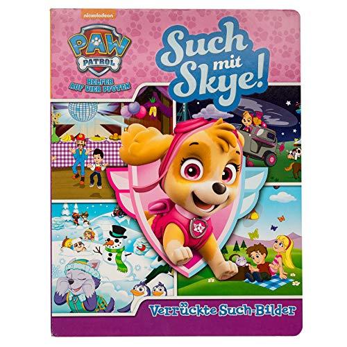 Such mit Skye! - Verrückte Such-Bilder - PAW Patrol - Wimmelbuch mit lustigen Lernspielen - Pappbilderbuch mit 18 Seiten für Kinder ab 18 Monaten