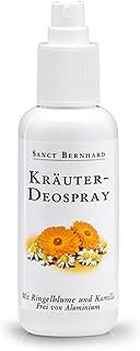 Sanct Bernhard Kräuter Deo-Spray mit Ringelblume, Kamille, Allantoin, Farnesol, frei von Aluminium, 125 ml