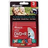 3PK MEMOREX MINI DVD+R DL 2.6GB W/ JC BLISTER (46552L) Category: DVD Media
